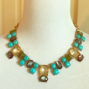 Chico's Teal Stone Bib Statement Necklace